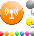 Radio glossy button vector image