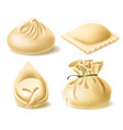 realistic clipart of different dumplings vector image vector image