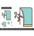 rock climbing line icon vector image vector image