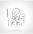 scientist in safety suit line vector image