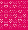 seamless background with hearts repetitive vector image vector image