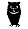 silhouette owl vector image vector image