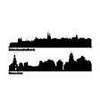 skyline tourist towns in germany vector image