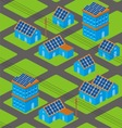 solar houses pattern vector image