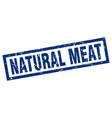 square grunge blue natural meat stamp vector image vector image