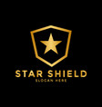 star shield logo icon design template vector image vector image