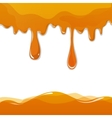 Sweet honey drips seamless vector image vector image