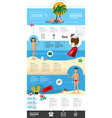 tourism recreation travel brochure vector image