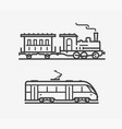 train icon transport transportation sign or vector image vector image
