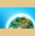travel destination concept with logo the earth vector image vector image