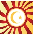 Turkey symbol abstract icon vector image vector image
