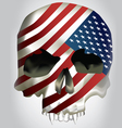 usa skull concept art vector image vector image
