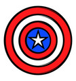 usa star icon cartoon vector image