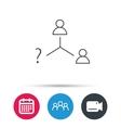 Vacancy or hire job icon Teamwork sign