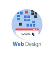web design internet technology vector image vector image