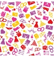 wedding seamless pattern vector image