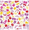 wedding seamless pattern vector image vector image