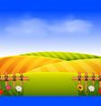 wheat field scenery vector image vector image