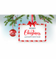 winter holiday banner and ball vector image vector image