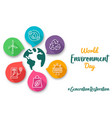 world environment day eco friendly icon card vector image vector image