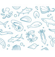 seafood seamless background vector image