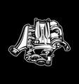 car engine turbo muscle car speedster vector image