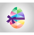 Geometric shape of egg Easter egg triangular and vector image
