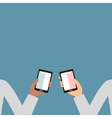 Hands Holding a Smartphone vector image