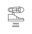 tenis shoes line icon outline sign linear symbol vector image