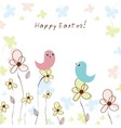 Colorful easter floral background vector image