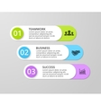 white lines arrows infographic Template vector image
