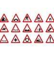 15 Triangle Traffic Signs vector image vector image