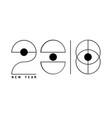 2018 new year futuristic vector image