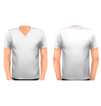 A male body with a white shirt on vector image vector image