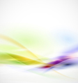 Abstract smooth colorful flow on white background vector image vector image