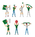 algeria football fans cheerful soccer vector image vector image