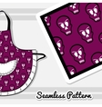 Apron With Skulls vector image