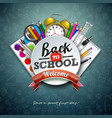 back to school design with colorful pencil vector image vector image