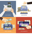 bank design concept vector image vector image
