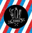Barber shop label icon vector image vector image