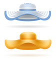 beach hat for women stock vector image vector image