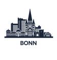 bonn skyline emblem vector image vector image
