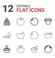 bowl icons vector image vector image