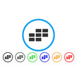 calendar grid rounded icon vector image vector image