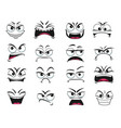 cartoon face expression isolated icons set