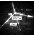 CINEMA vector image