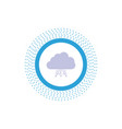 cloud computing data hosting network glyph icon vector image vector image