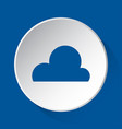 cloudy weather - simple blue icon on white button vector image vector image