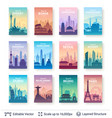 collection of famous asian city scapes vector image vector image