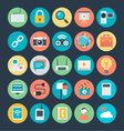 Communication Colored Icons 3 vector image vector image